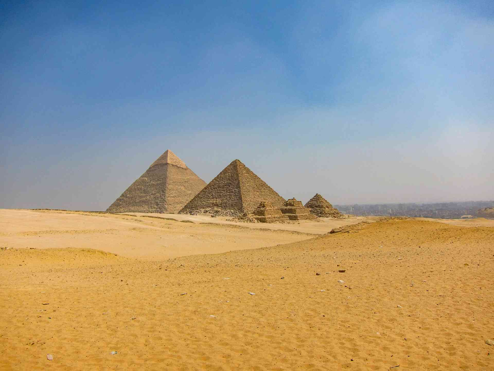 Pyramids of Giza, Egypt by Abbie Bell