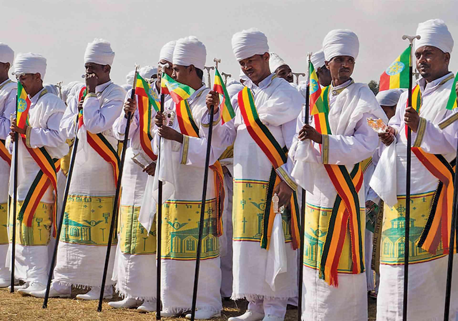 Timkat priests, Ethiopia