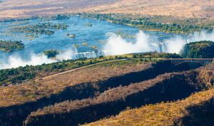 Victoria Falls from above, Zimbabwe by Graham Meale