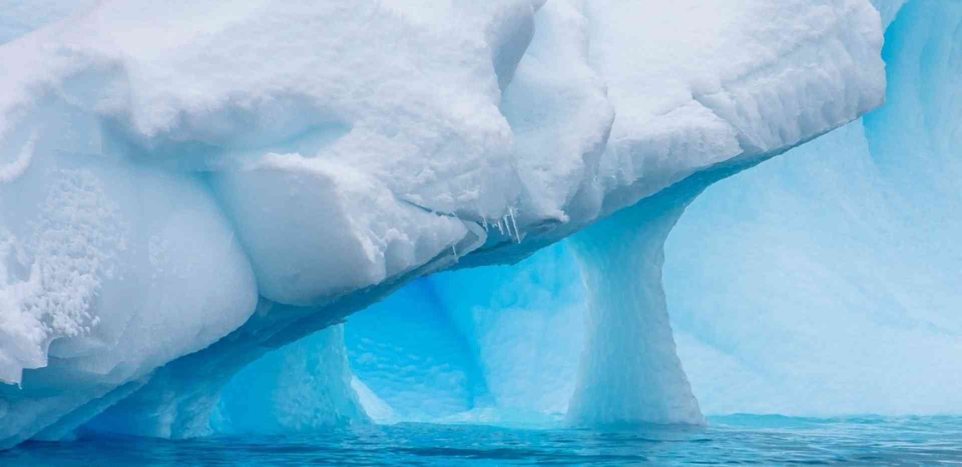 Iceberg formation, Antarctica by David Hein