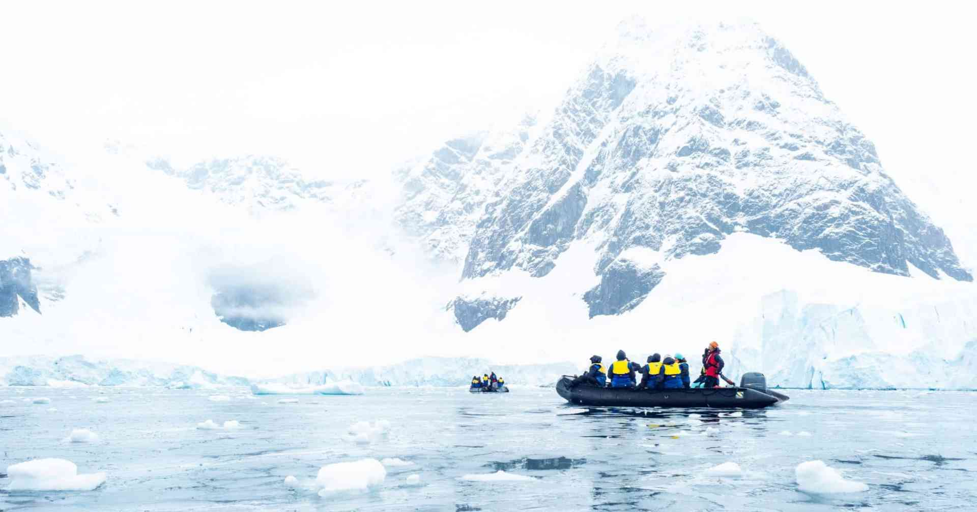 Zodiac cruise through Antarctic waters, Antarctica by Aurora Expeditions