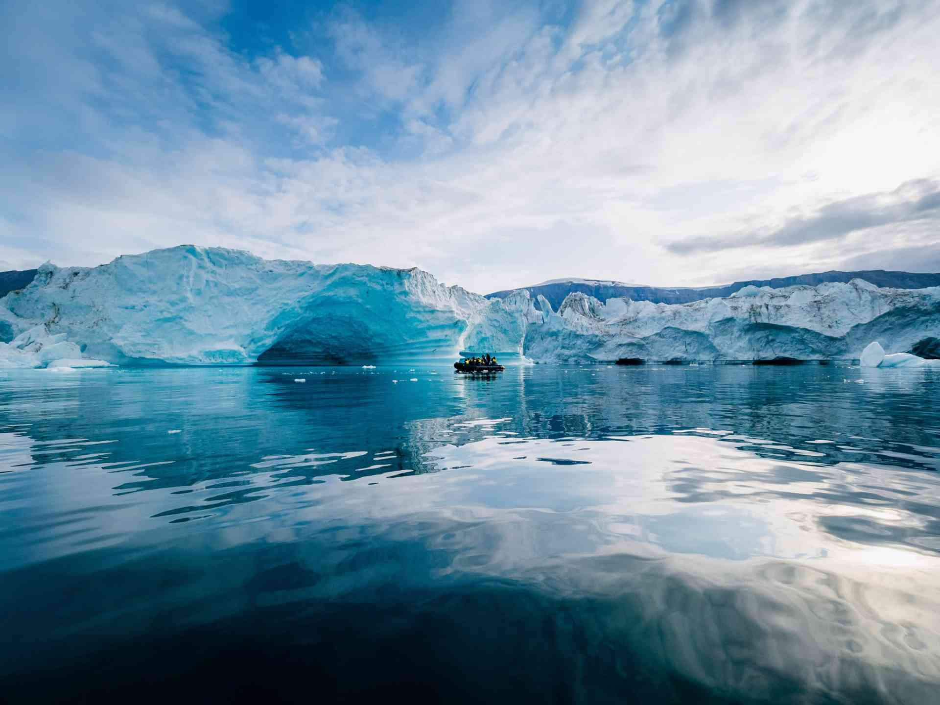 Icebergs, East Greenland by Aurora Expeditions