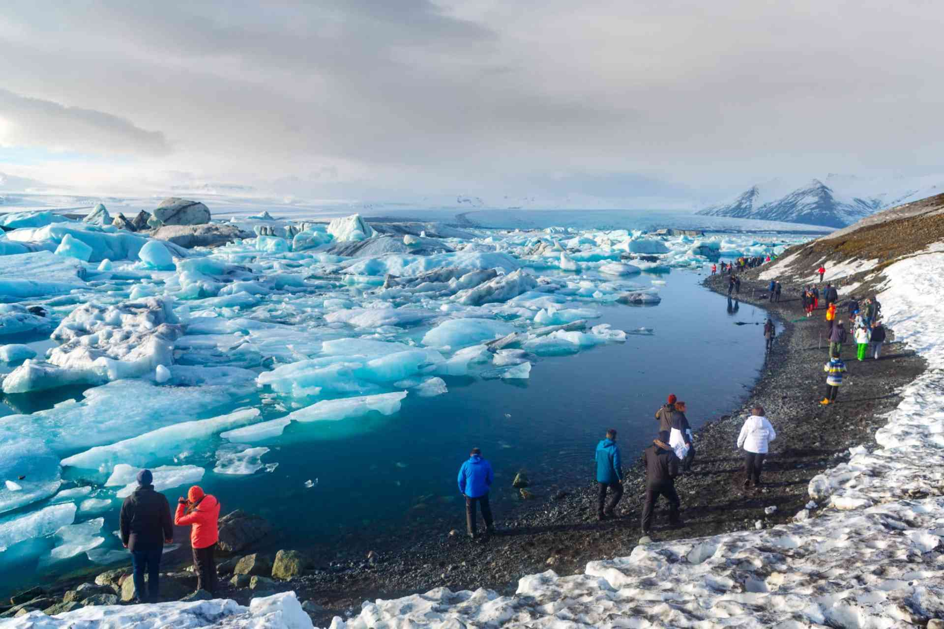 Jökulsárlón glacier lagoon, Iceland by Aurora Expeditions