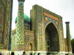 Registan Square, Samarkand, Uzbekistan by Annelieke Huijgens