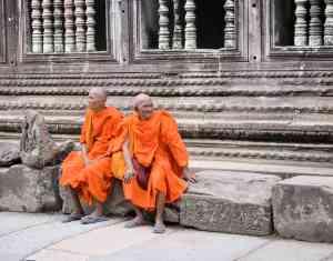 Monks, Angkor Wat by Kenn Ortzen-Bario