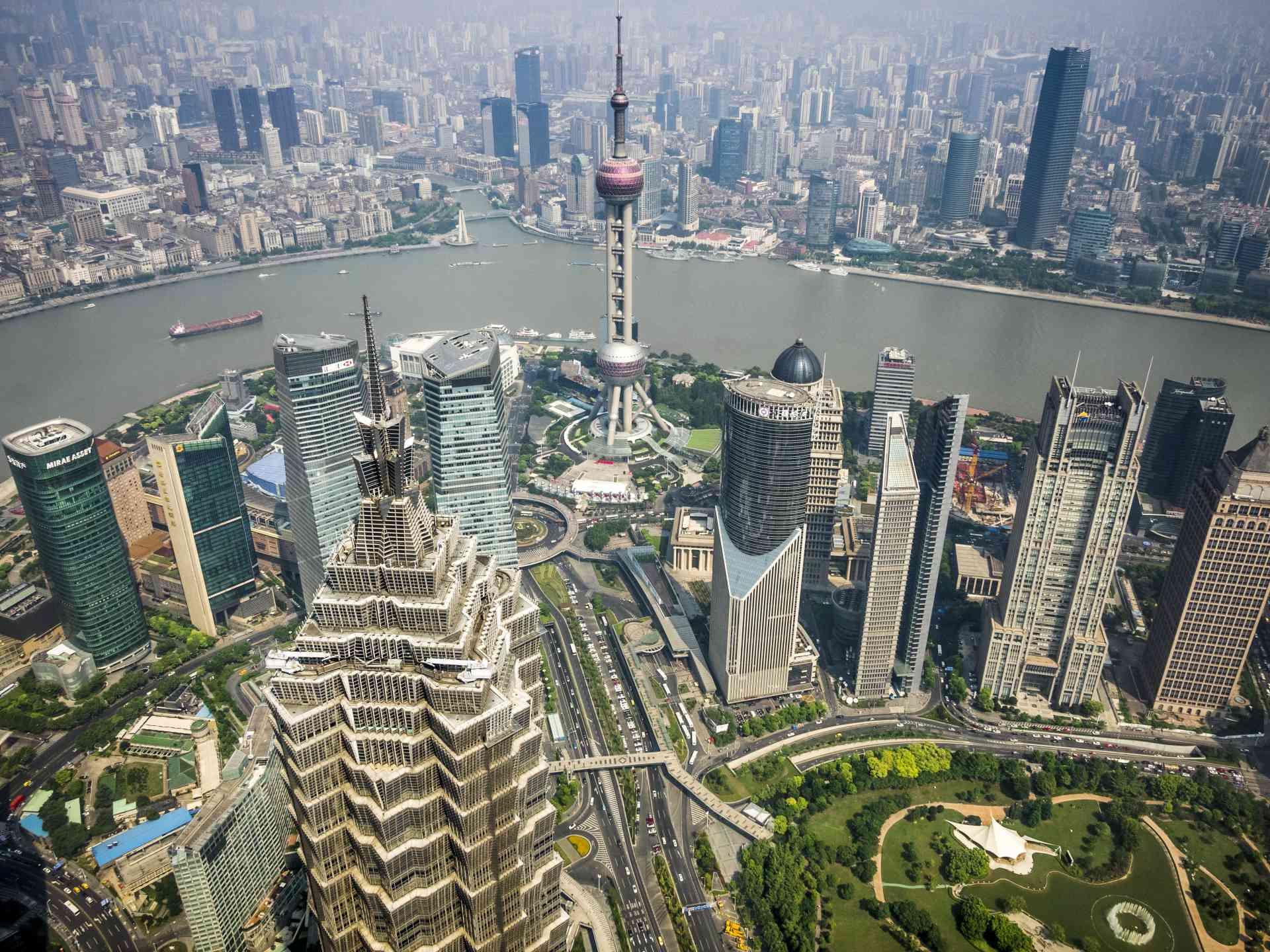 Shanghai skyline, China by David Hein