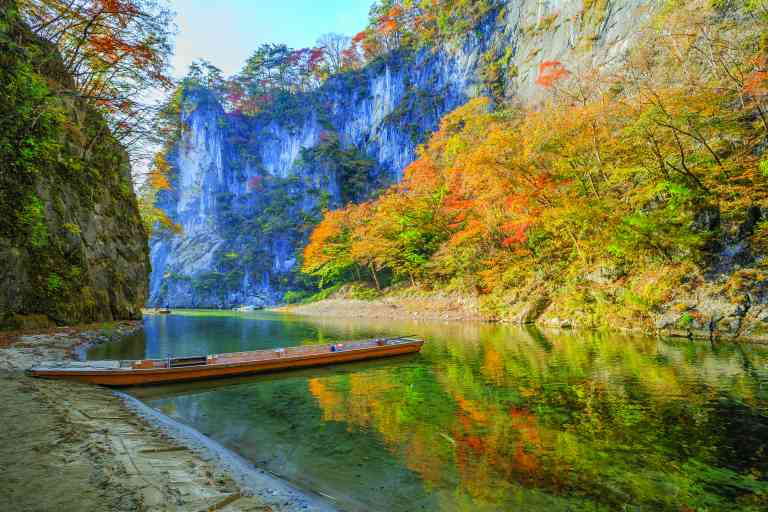 Geibikei Gorge, Iwate, Japan by Piith Hant/Shutterstock