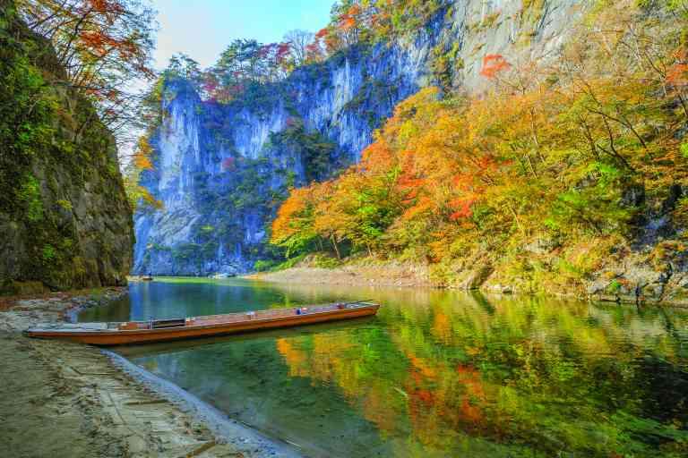 Geibikei Gorge, Iwate, Japan by Piith Hant/Shutterstock