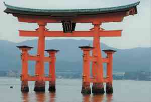 Miyajima Tori Gate, Hiroshima, Japan by Roy Bisson