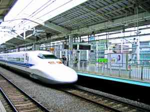 Bullet Train in Kyoto, Japan by Dennis Bunnik