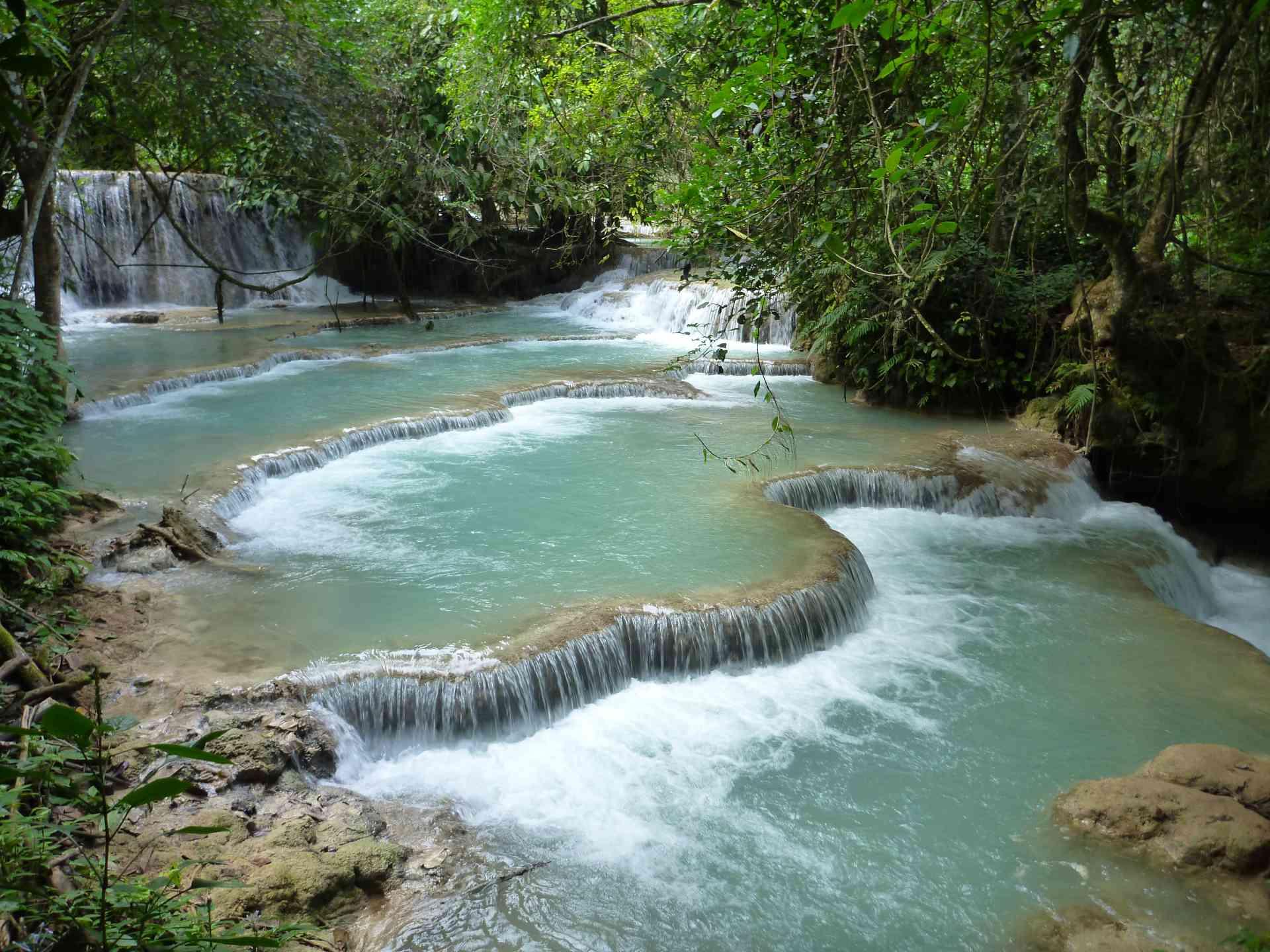 Kuang Si Falls, Laos by Craig McBey