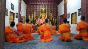 Monks in Luang Prabang, Laos by Dennis Bunnik