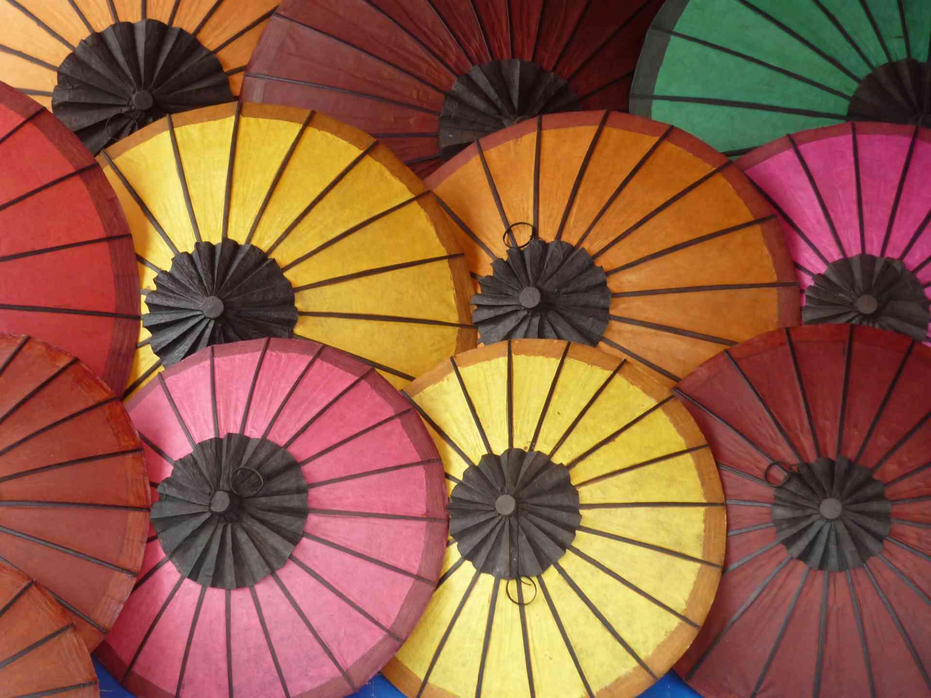 Umbrellas, Luang Prabang, Laos by Gary Hayes