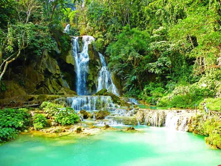 Kuang Si Waterfalls, Laos by Sacha Bunnik