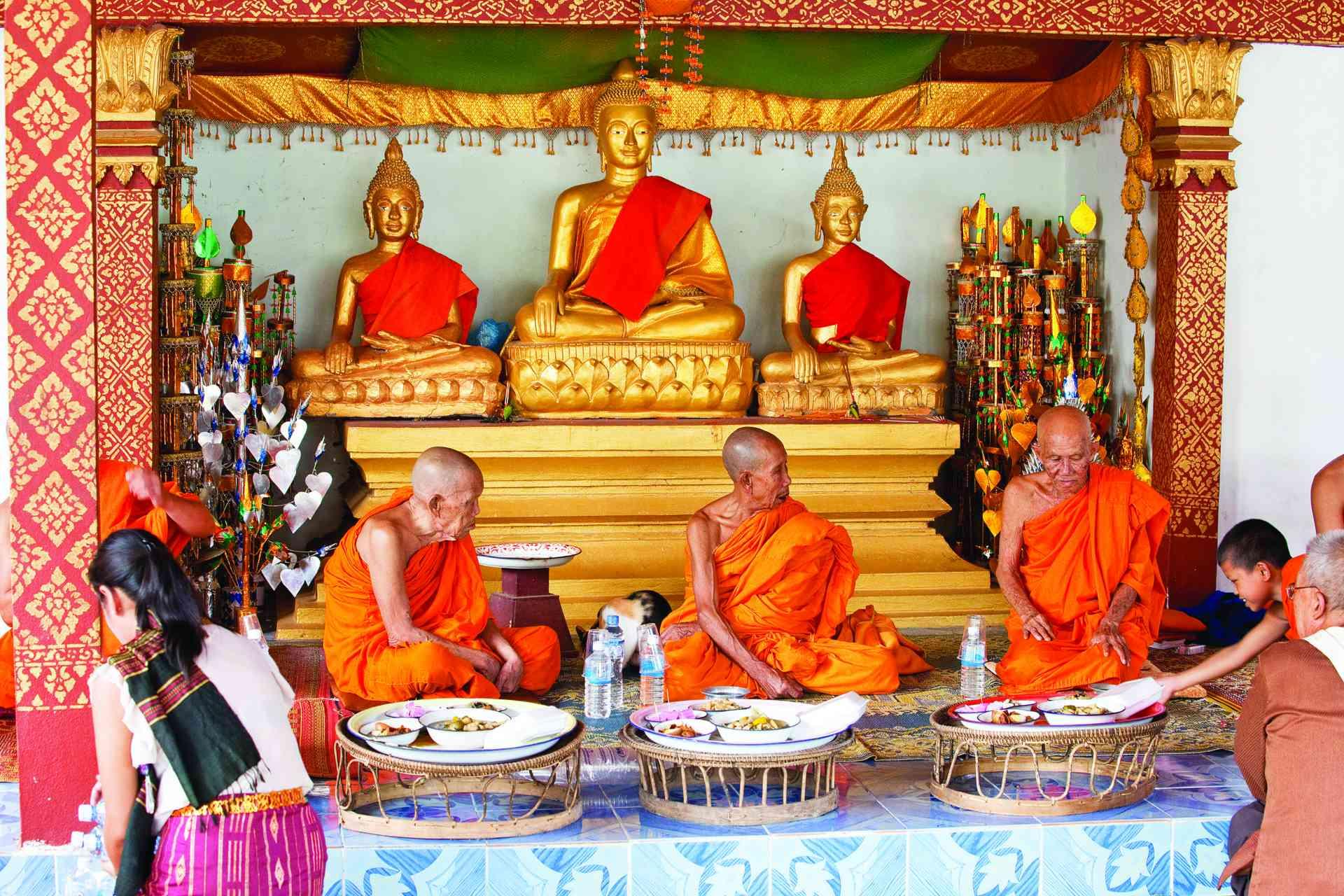 Monks, Luang Prabang, Laos by Graham Meale