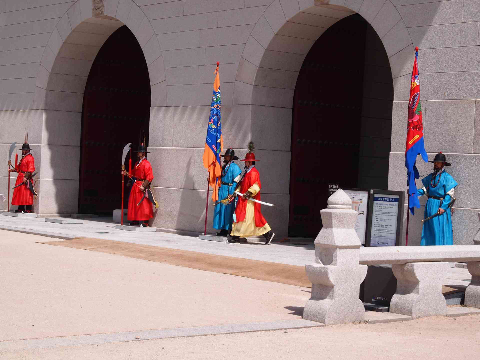 Gyeongbokgung Palace Guards, Seoul by Honi Gibson