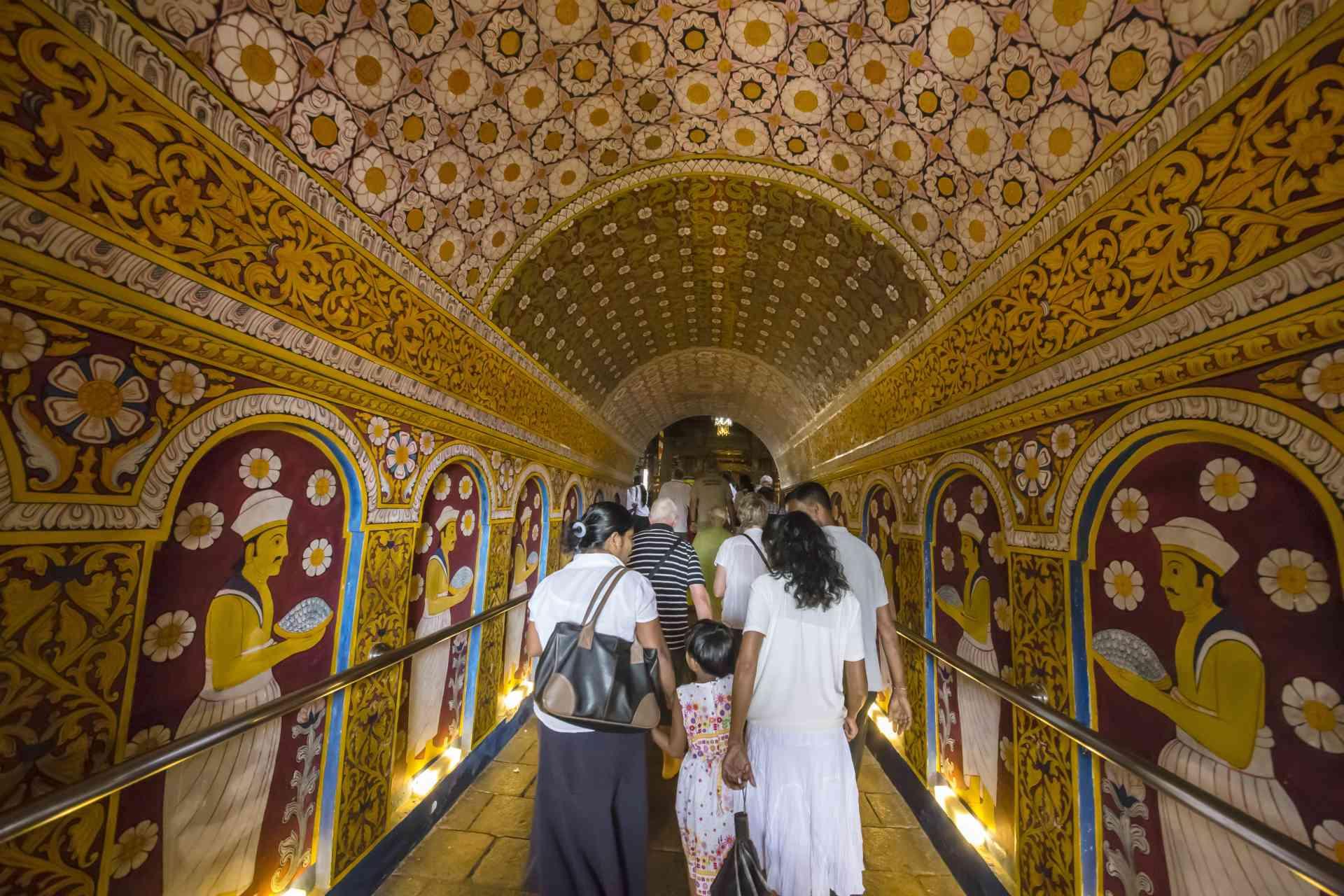Kandy Temple entrance, Sri Lanka by David Hein