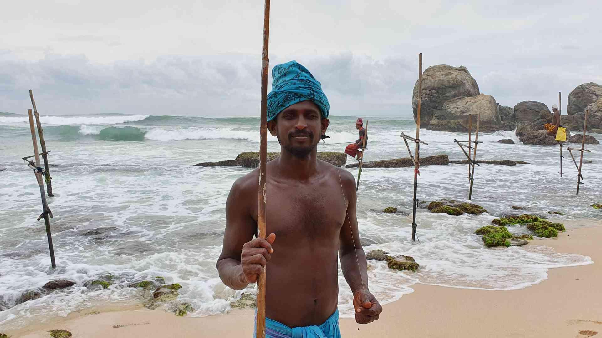 Stilt Fishermen, Weligama, Sri Lanka by Dennis Bunnik