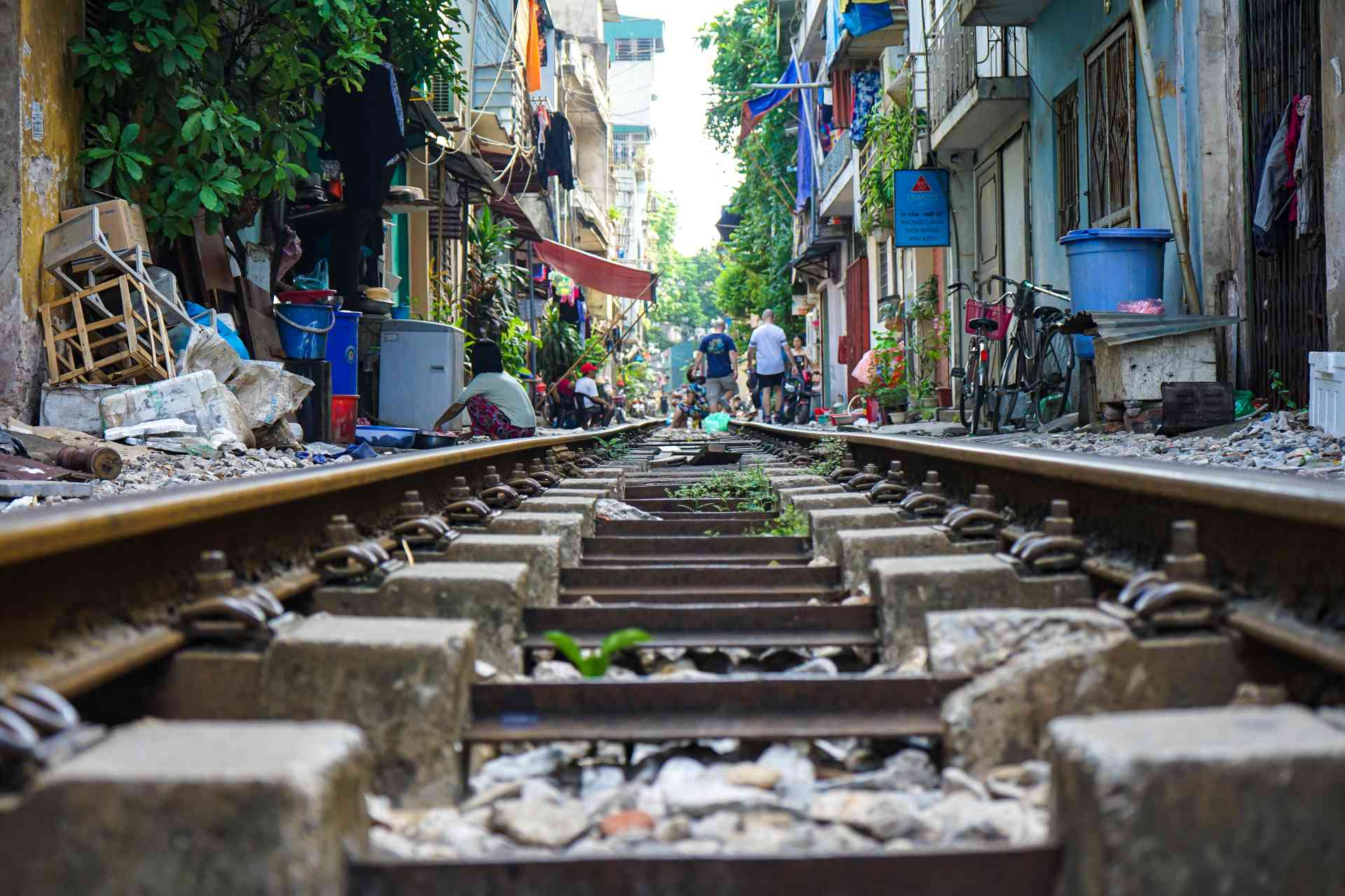 Rail Tracks of Hanoi, Vietnam by Priscilla Aster