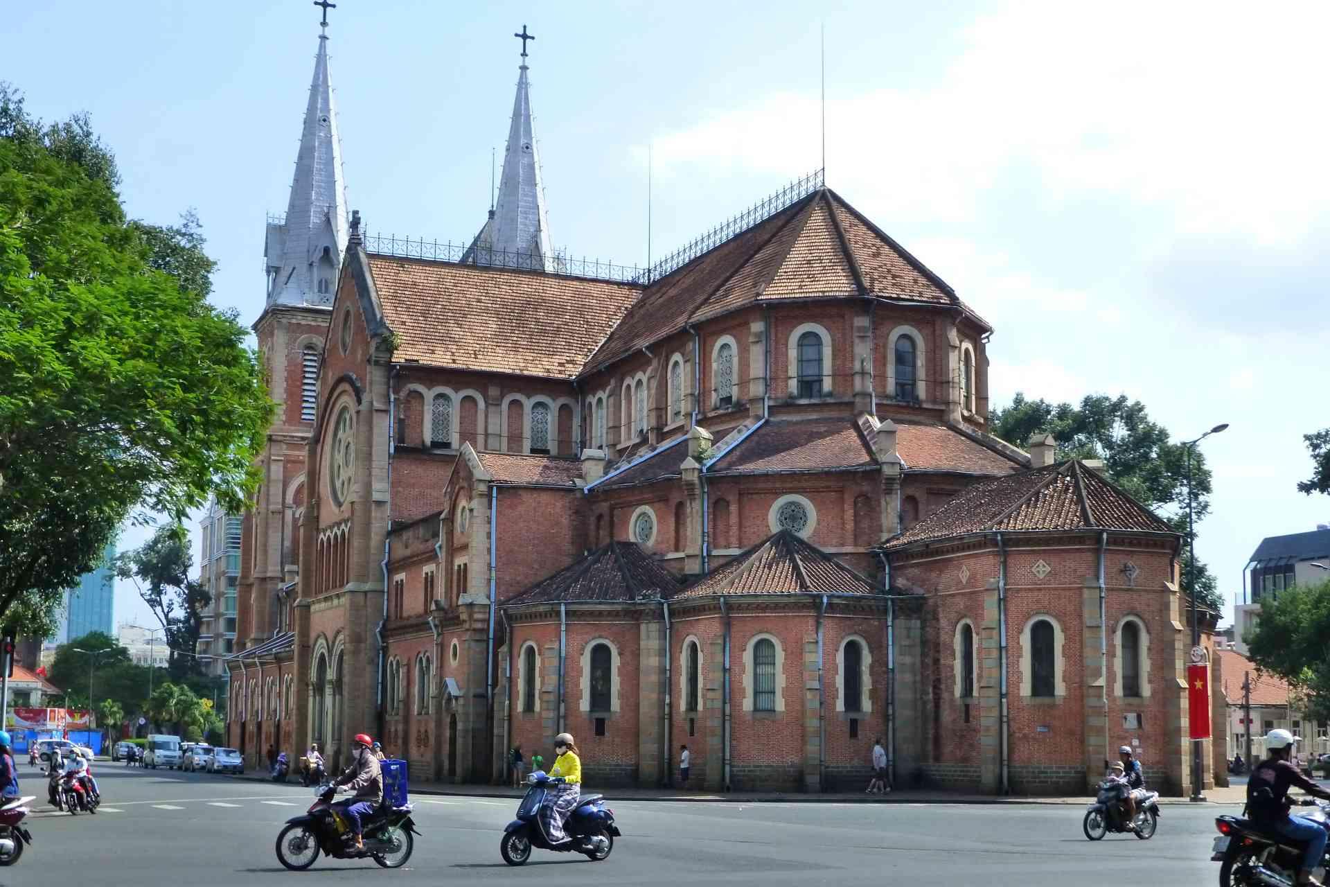 Notre Dame in Saigon, Vietnam by Marion Bunnik