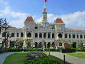City Hall, Saigon, Vietnam by Marion Bunnik
