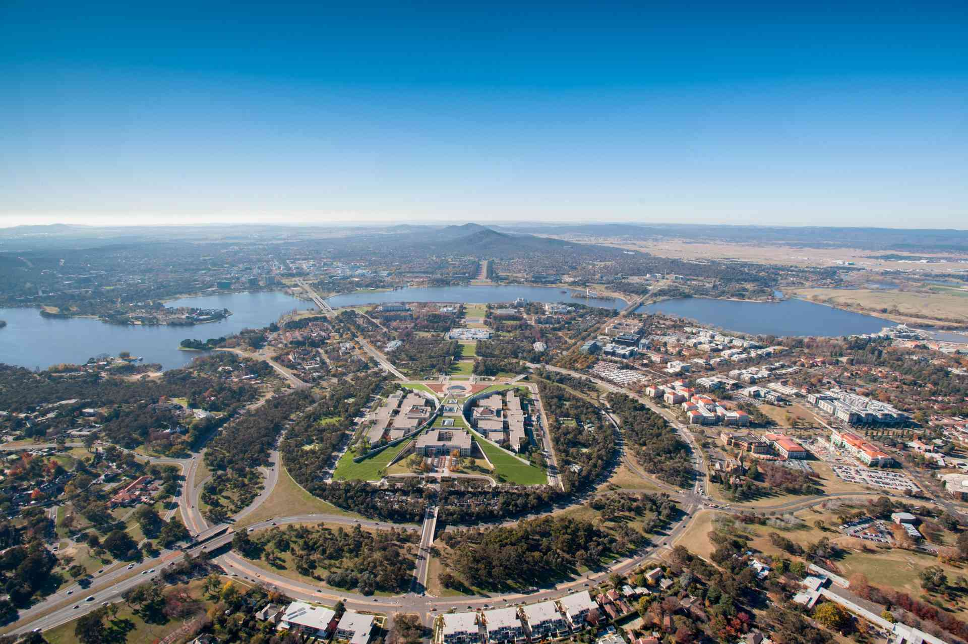 Parliament House, Lake Burley Griffin, Canberra by VisitCanberra
