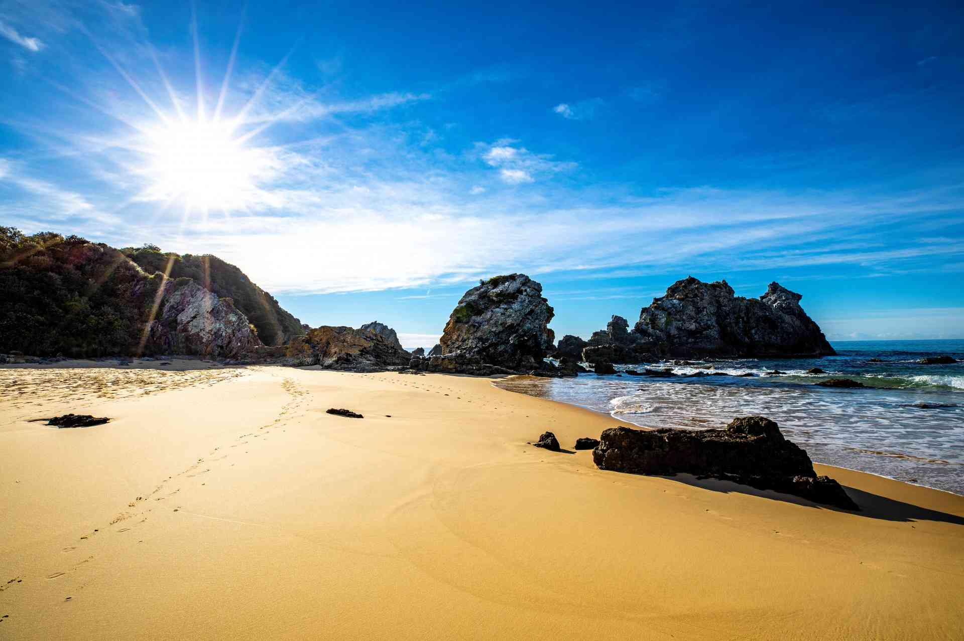 Camel Rock volcanic rock formations at Bermagui by Destination NSW
