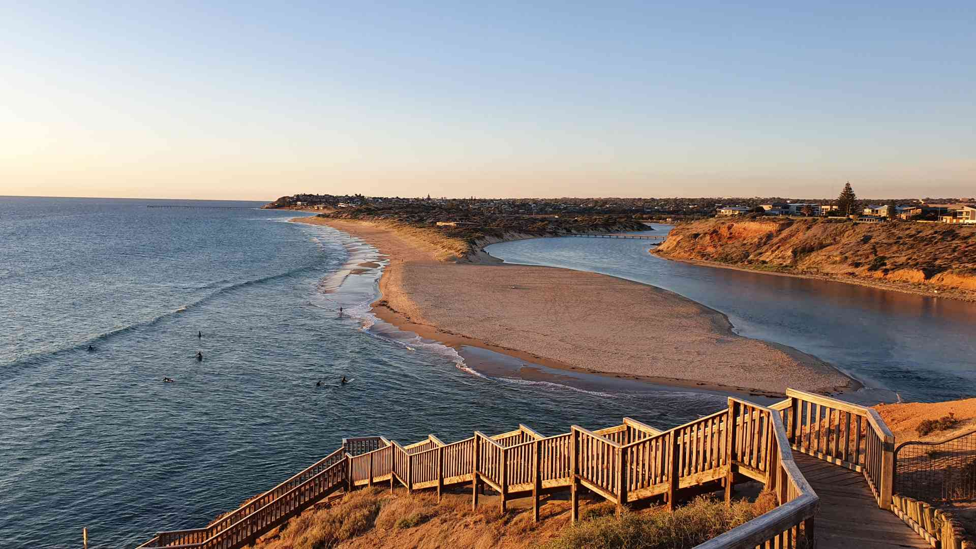 Port Noarlunga Beach by Dennis Bunnik