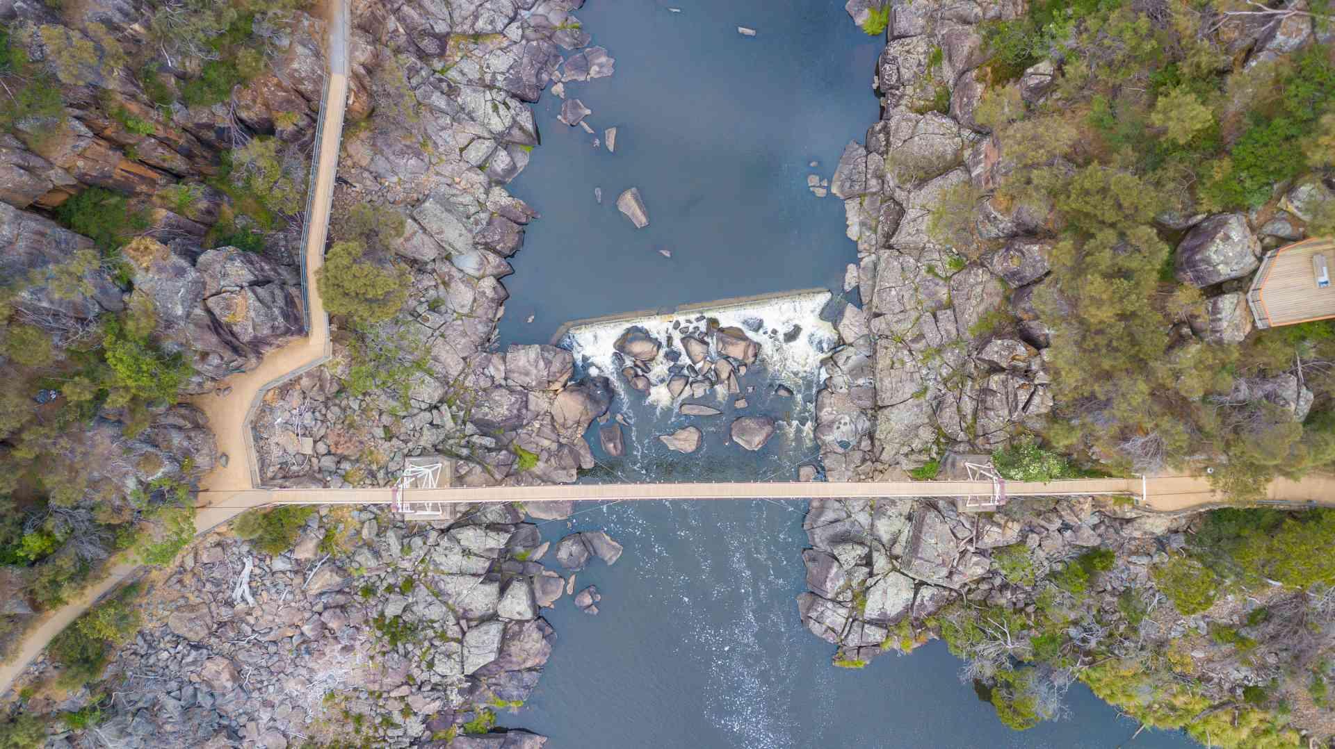 Cataract Gorge, Tasmania by iSky Aerial Photography