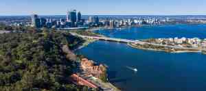 View from Kings Park and Botanic Gardens in Perth, Western Australia