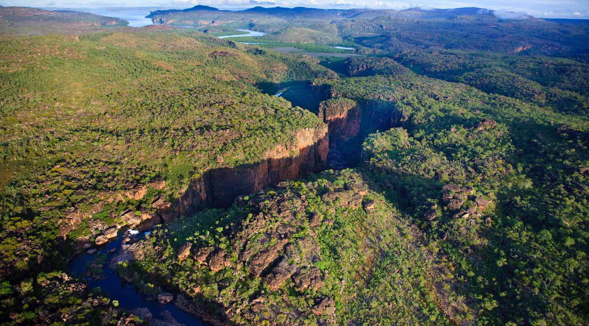 Aerial views of Mitchell Falls, Western Australia by Andrew Halsall (Aurora Expeditions)