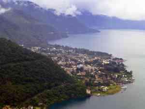 View over Lake Atitlan, Guatemala by Marion Bunnik