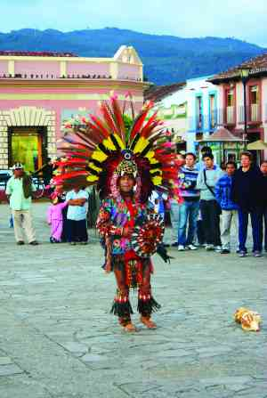 An Aztec dancer, Mexico by Marion Bunnik