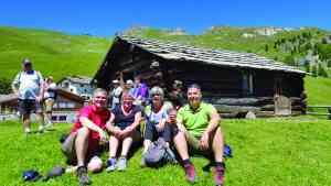 Group in St Moritz, Switzerland by Dennis Bunnik