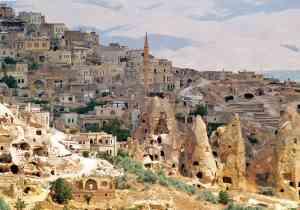The fairy chimneys of Cappadocia, Turkey