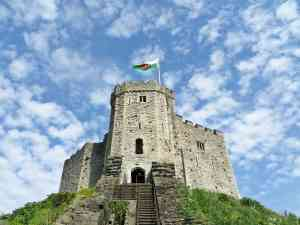 Cardiff Castle, Wales by Margaret D