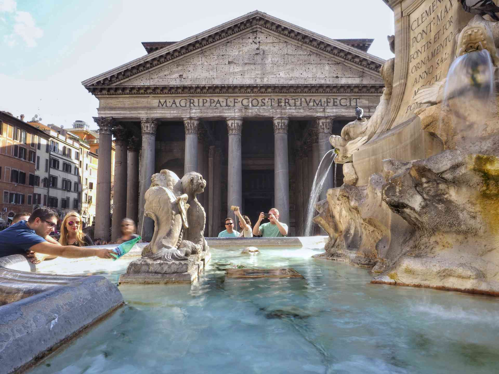 Pantheon, Italy by David Hein