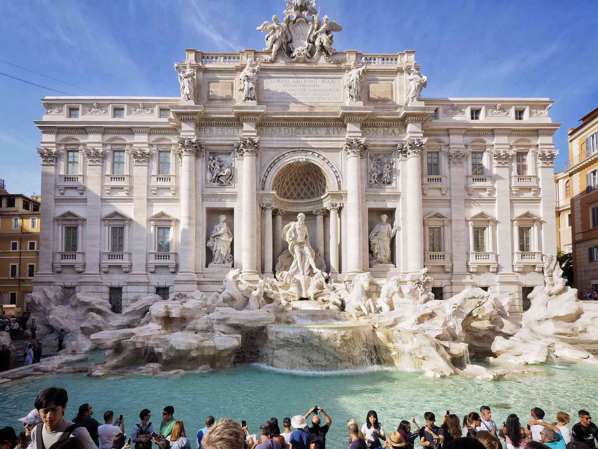 Trevi Fountain, Rome, Italy by David Hein