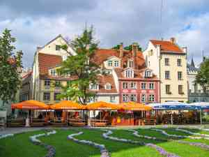 Livu Square, Riga, Latvia