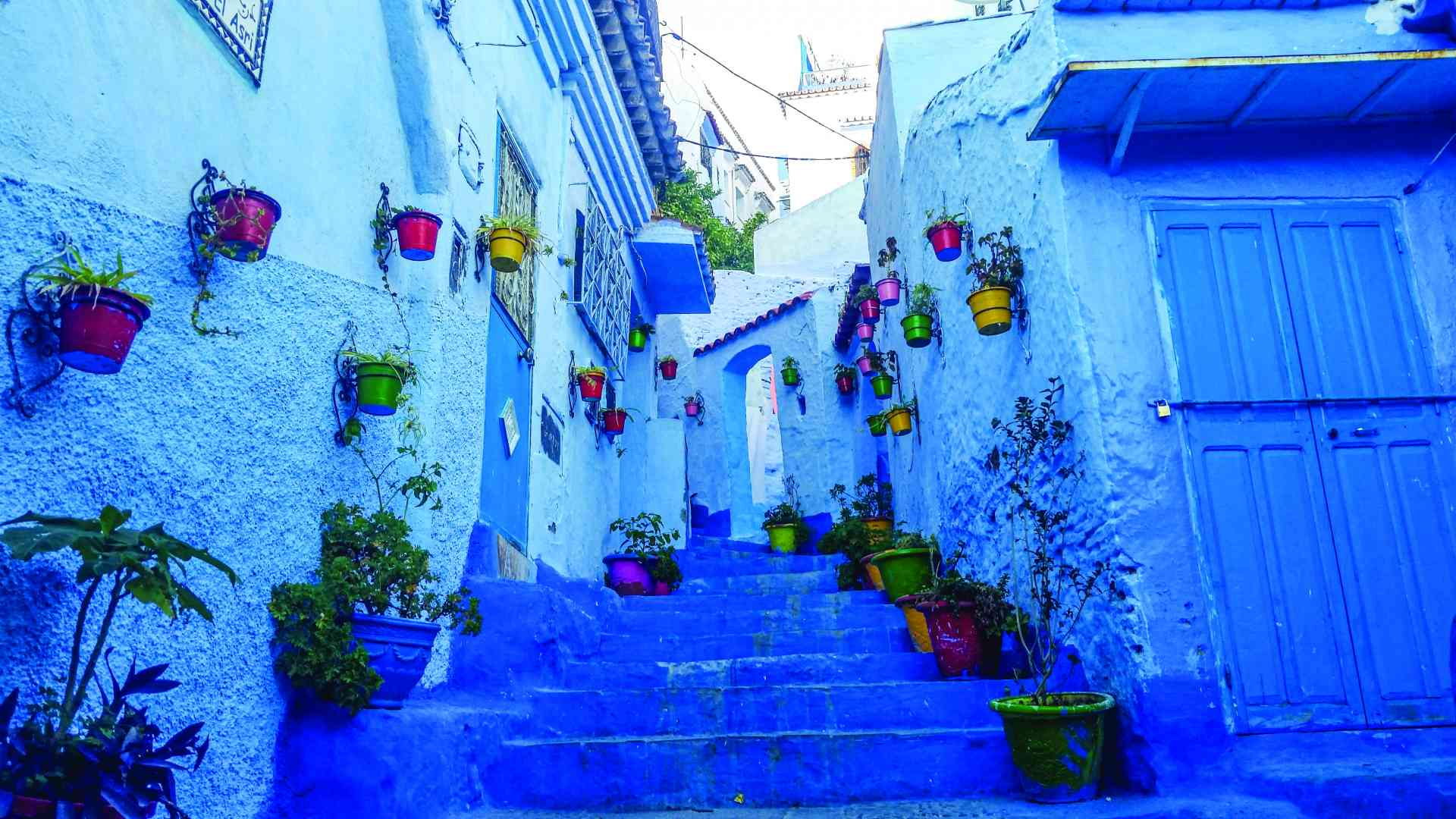 Chefchaouen, Morocco by Rachel Footner