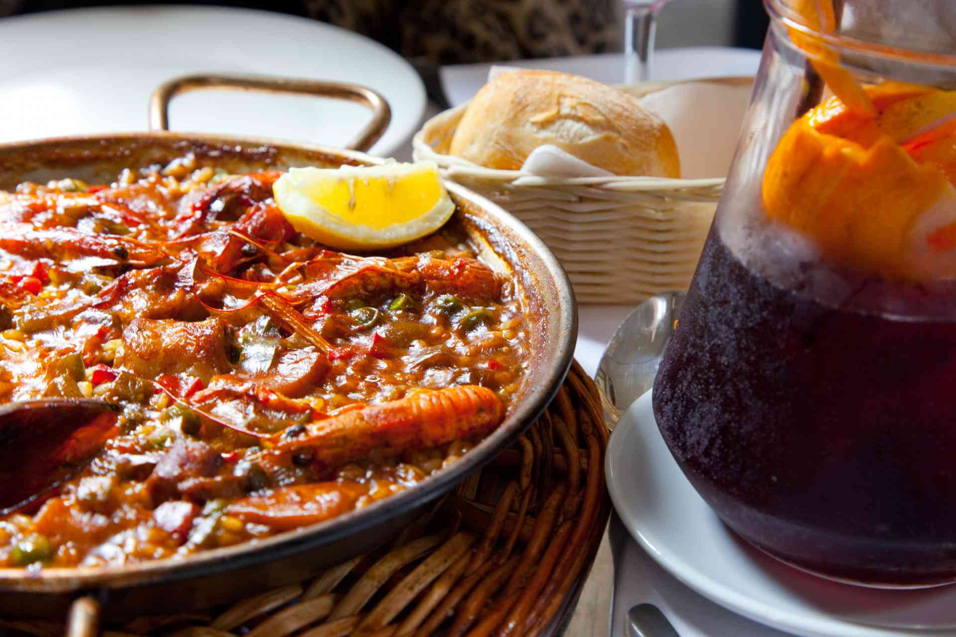 Paella and Sangria, Barcelona, Spain by Graham Meale