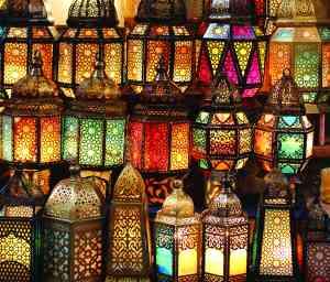 Lamps at Khan el-Kahlili, Egypt.