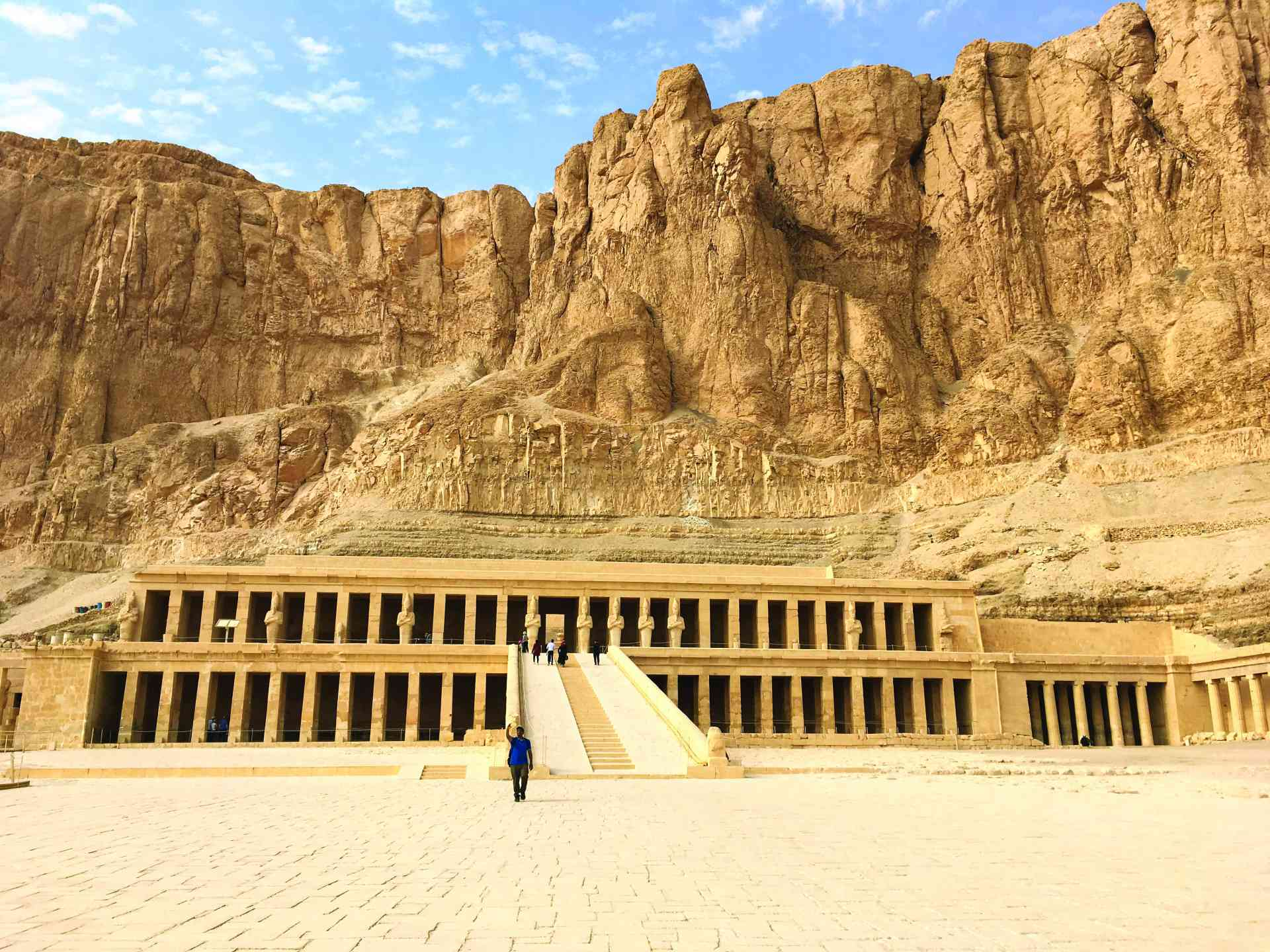 Queen Hatshepsut Temple, Luxor, Egypt by Erin Clifford
