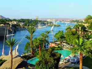 View over Nile from Old Cataract Hotel, Egypt by Sacha Bunnik