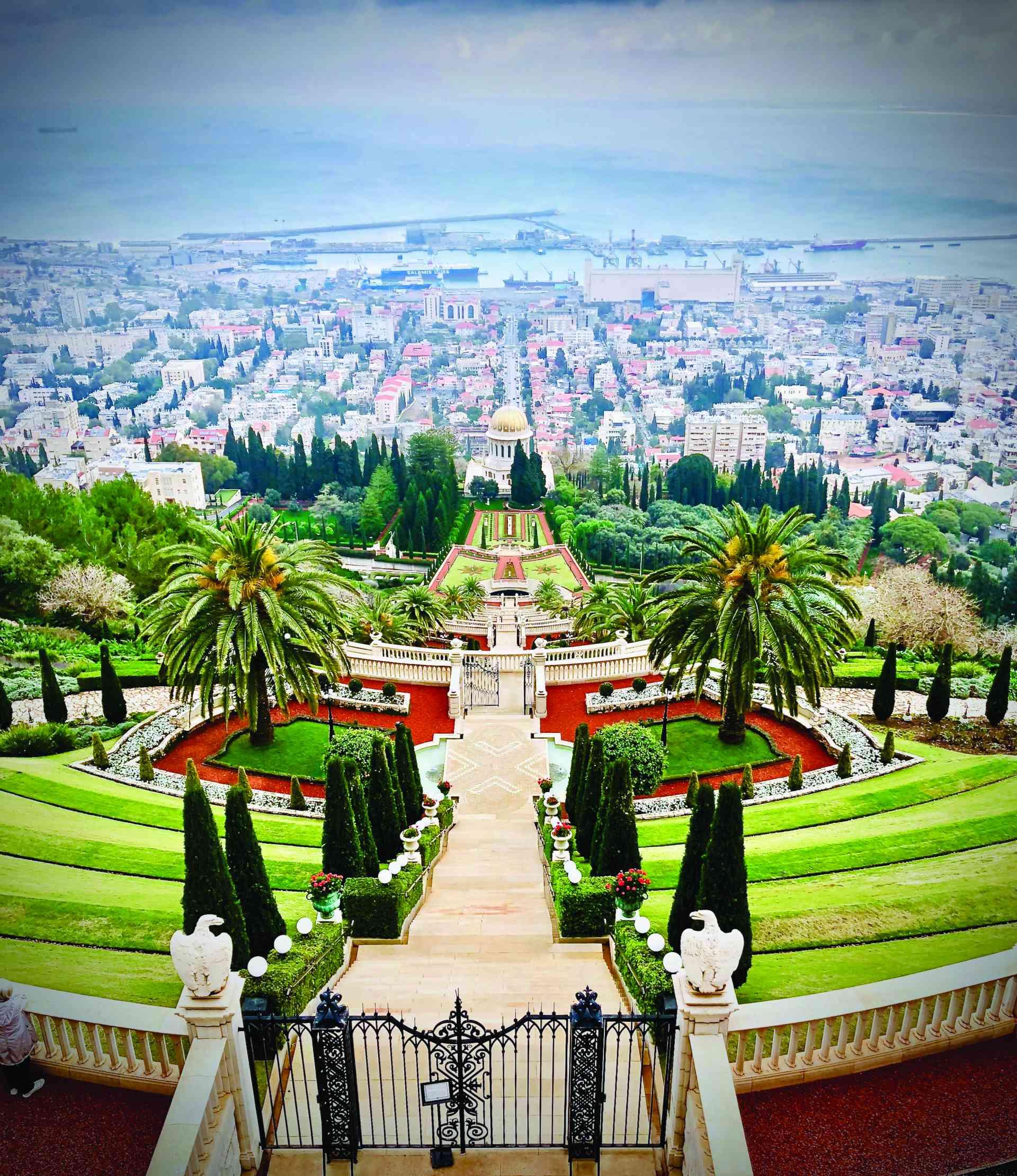 Haifa Gardens, Israel by Ian Carter