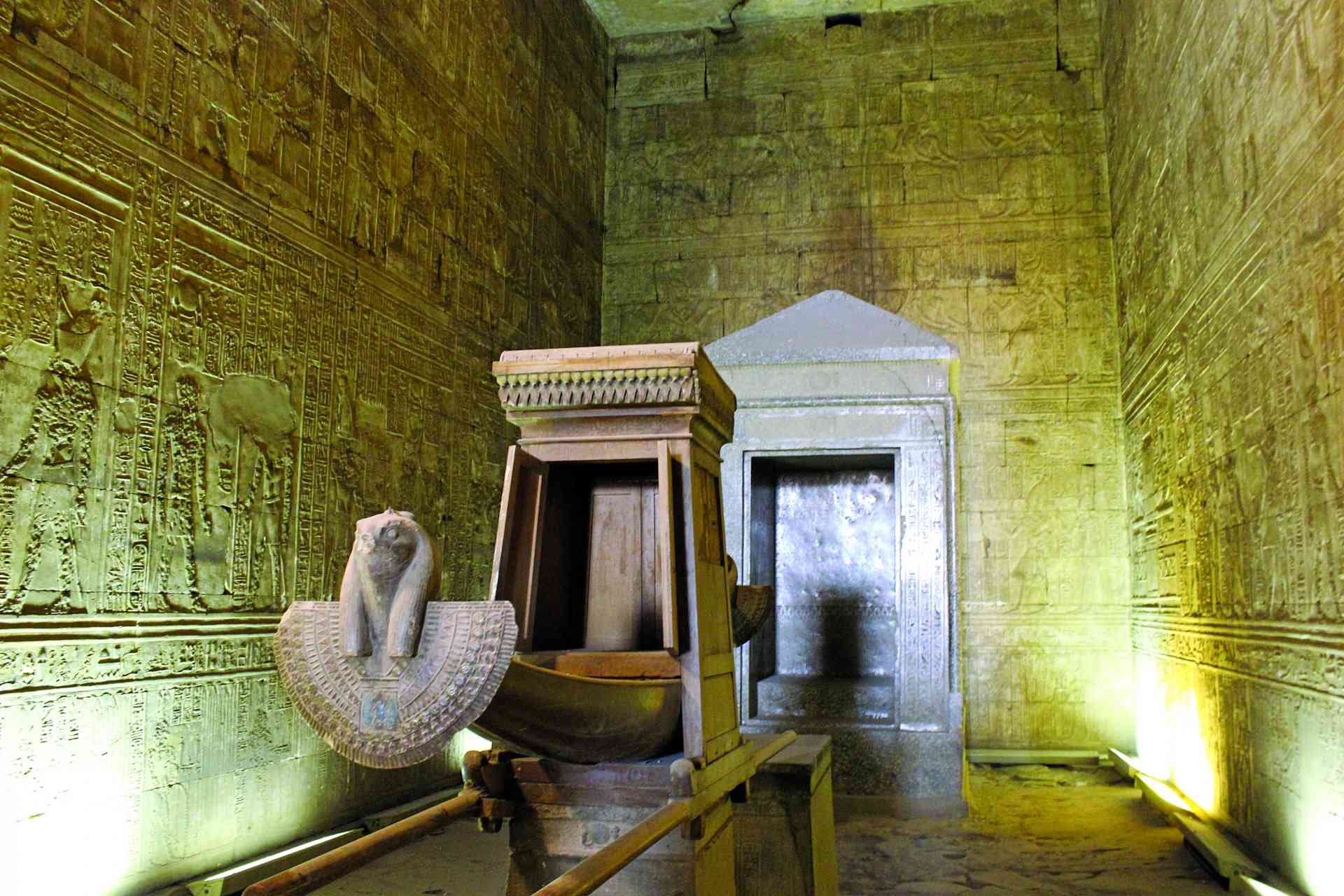 Temple of Horus Interior, Edfu, Egypt