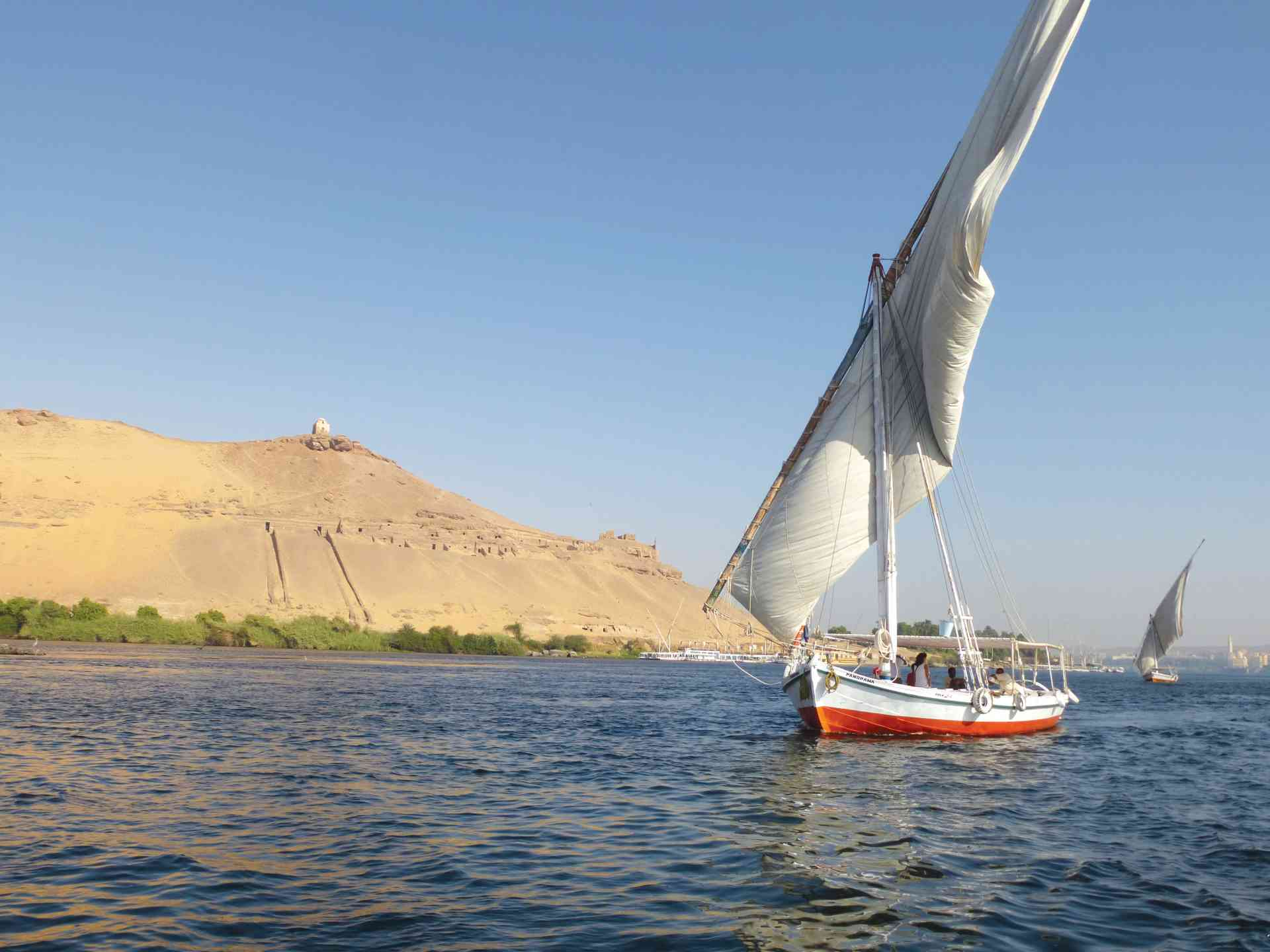 Felucca on the Nile, Egypt by Marion Bunnik