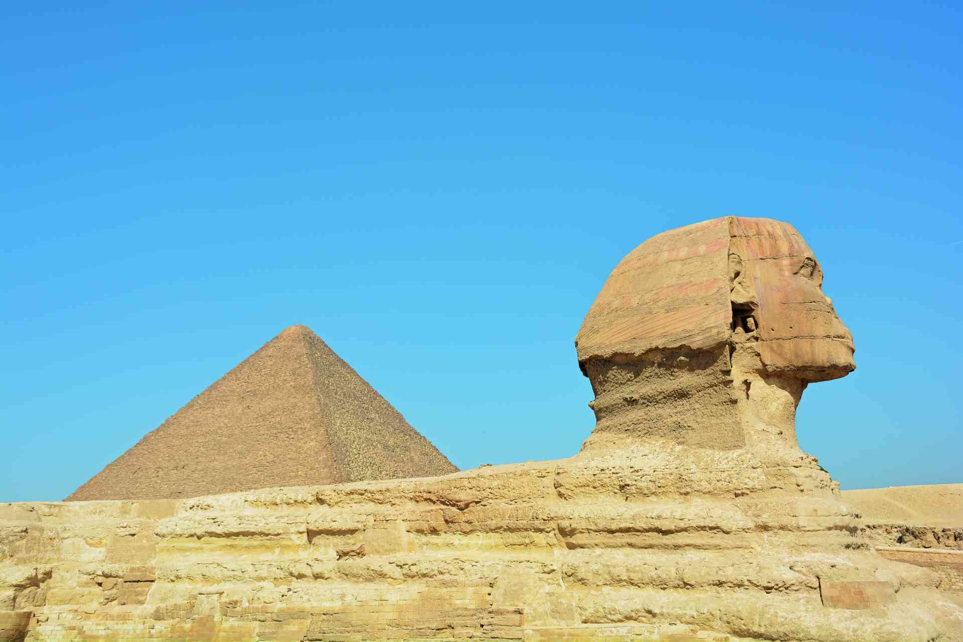 The Great Sphinx and Great Pyramid of Giza, Egypt by Pamela Frisari