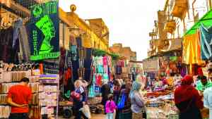 Khan el-Kahlili Bazaar, Egypt by Victori Hearn