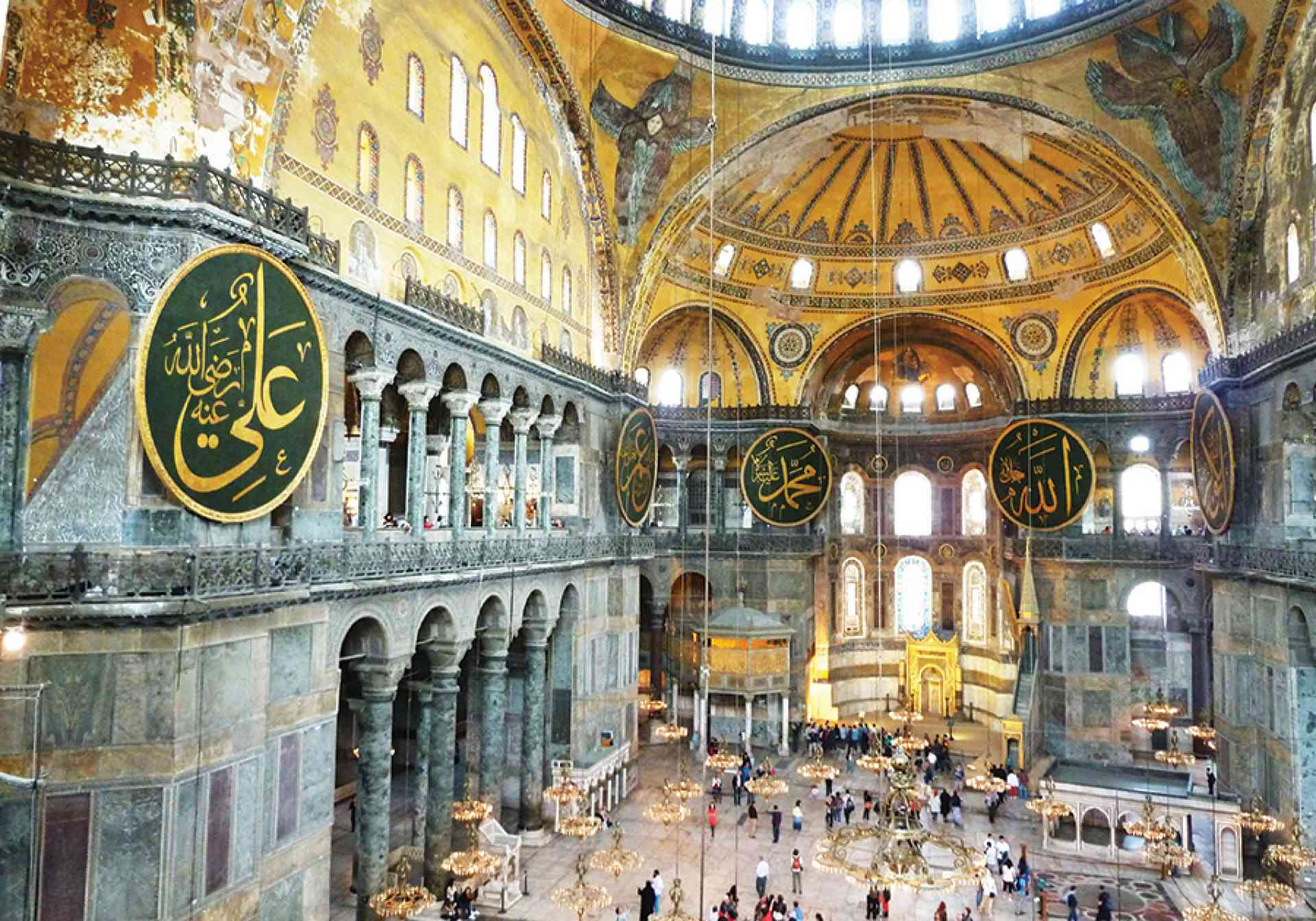 Hagia Sophia interior, Turkey by Dennis Bunnik